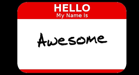 HelloMyNameIs - Awesome